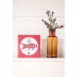 Plumier en bois peint à la main Pip peonies rose