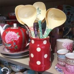 Ensemble de 3 pots en demi-porcelaine de Badonviller