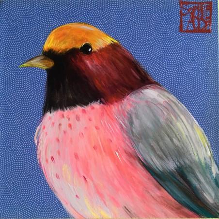 SA32 - L'oiseau fond bleu