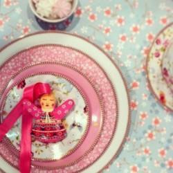 Assiette à dessert Jardins fond jaune Nathalie Lété pour Petit Jour