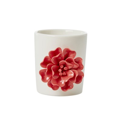 Pot en porcelaine, fleur...