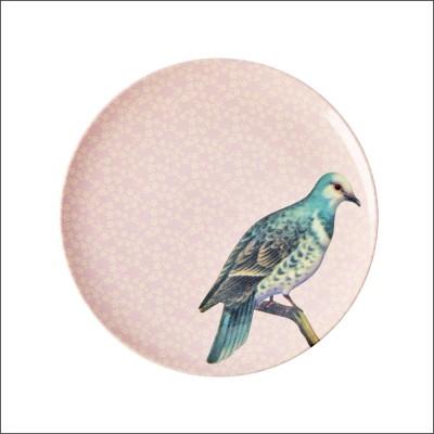 Petite assiette Oiseau rose...
