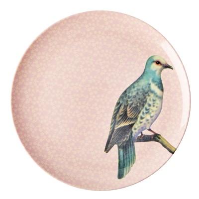 Grande assiette Oiseau rose...