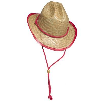 Chapeau de cow-boy en paille