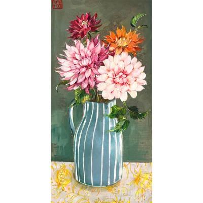 SA154 - Le vase aux dahlias