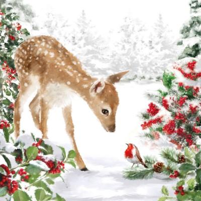 20 serviettes en papier Bambi