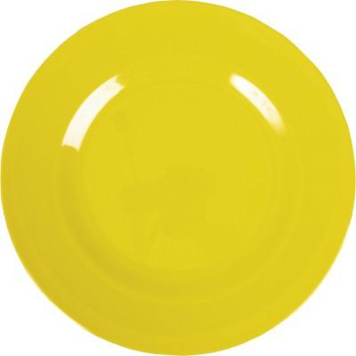 Assiette plate en mélamine yellow