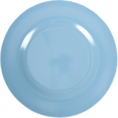 Assiette plate en mélamine turquoise