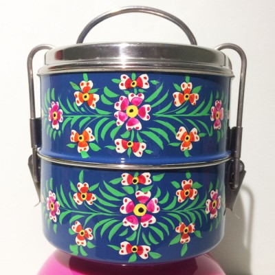 Lunch box ronde Folk marine