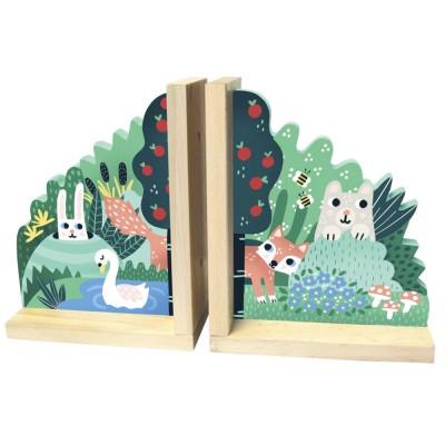 Paire de serre-livres Forêt