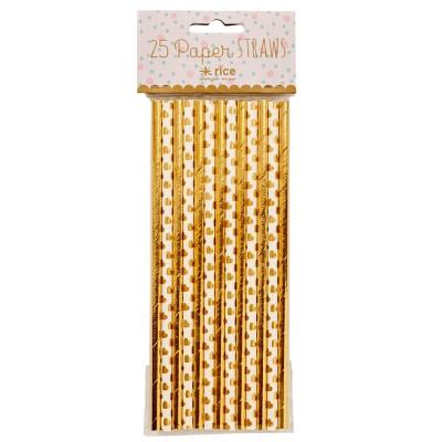 Pailles papier Gold assorties