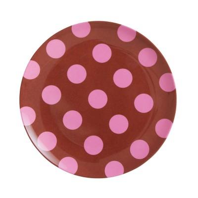 Petite assiette pink Dots RICE