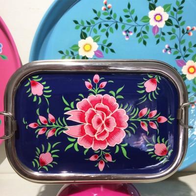 Lunch box double Pivoine...