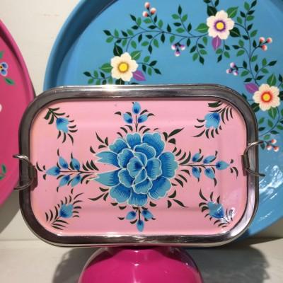 Lunch box double Pivoine rose