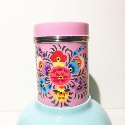 Boîte à thé Folk rose PM