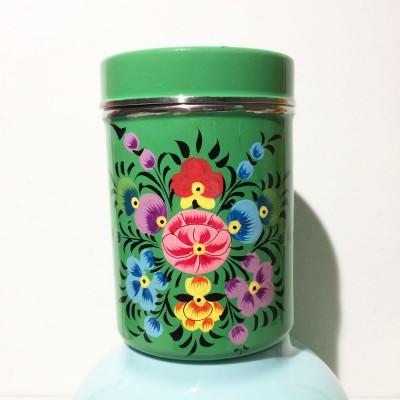 Boîte à thé Folk vert MM