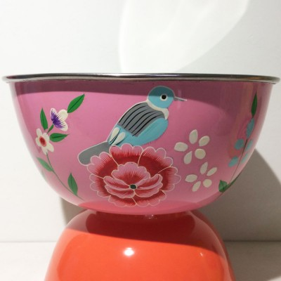 Saladier Bird pink