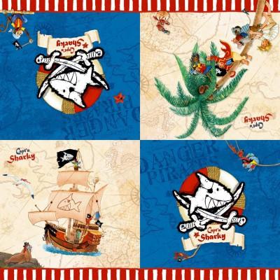 Serviettes en papier Capitaine Sharky