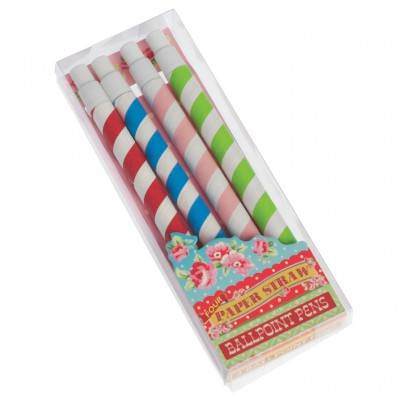 Lot de 4 stylos Paper Straw
