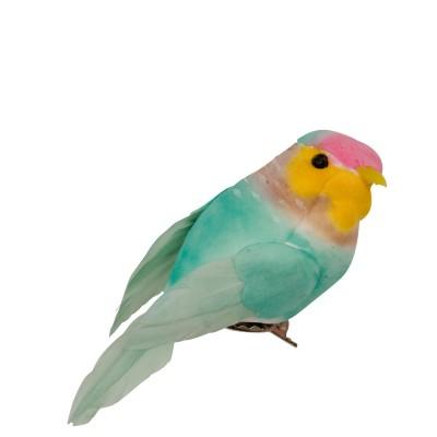 Oiseau sur pince Rice vert