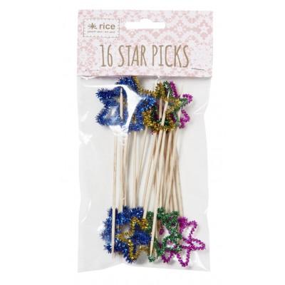 Piques à apéritif Glitter Stars