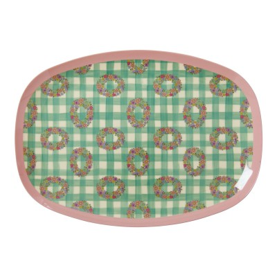 Assiette rectangulaire Rice Vichy