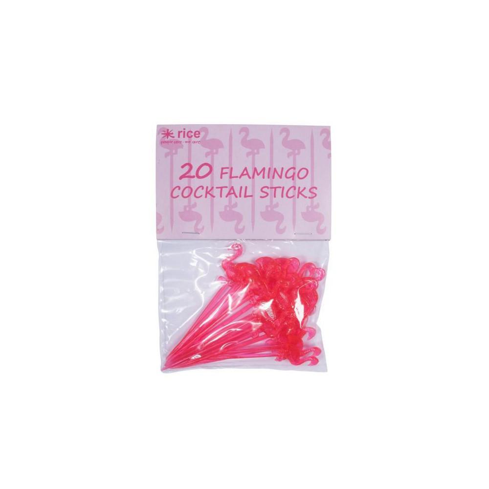Lot de 20 piques pour canapés Flamant rose