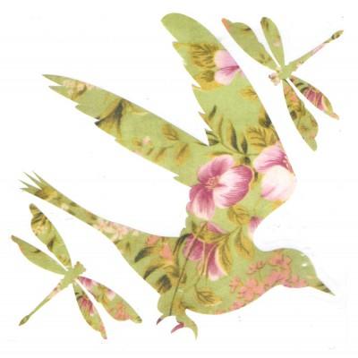 Oiseau et libellules...