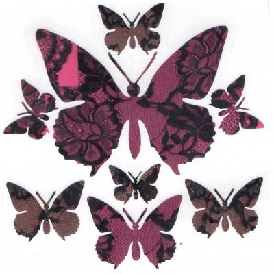 Papillons brodés (stickers...