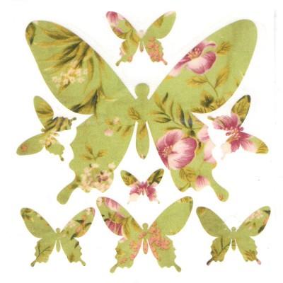 Papilons verts (stickers en...