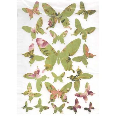 Envolée de papillons verts...