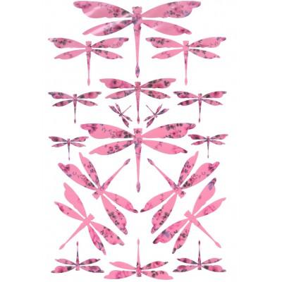 Envolée de libellules roses...
