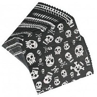 20 serviettes en papier Skull