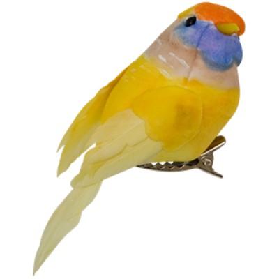 Oiseau sur pince RICE jaune